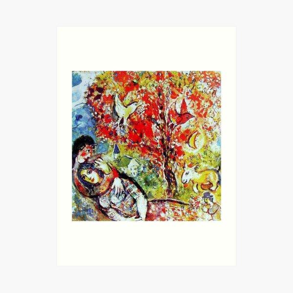 Les amoureux Art Print