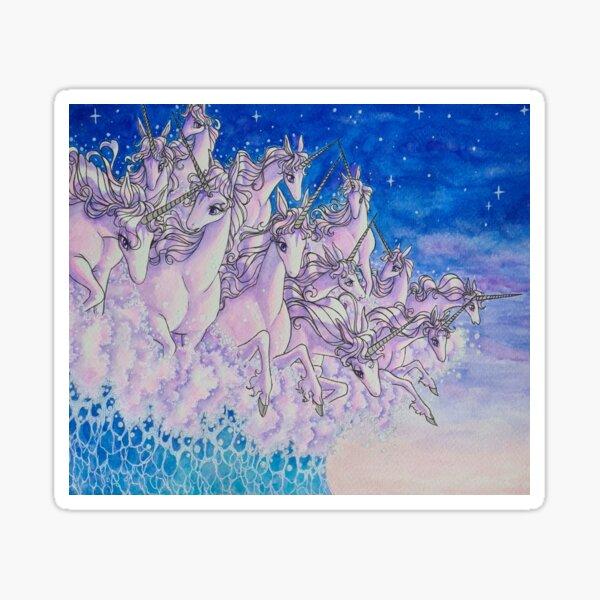 Unicorns in the sea part two Sticker