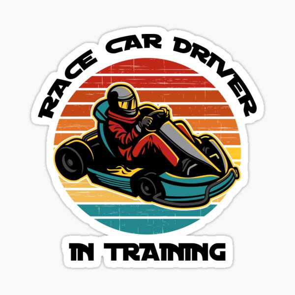 Race Car Driver in Training Sticker