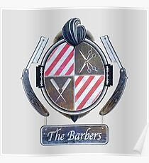 the barbers vintage Poster