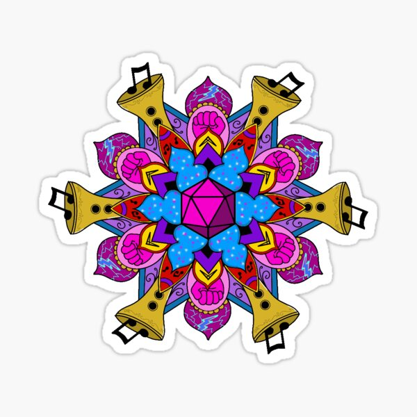 Scanlan mandala Sticker
