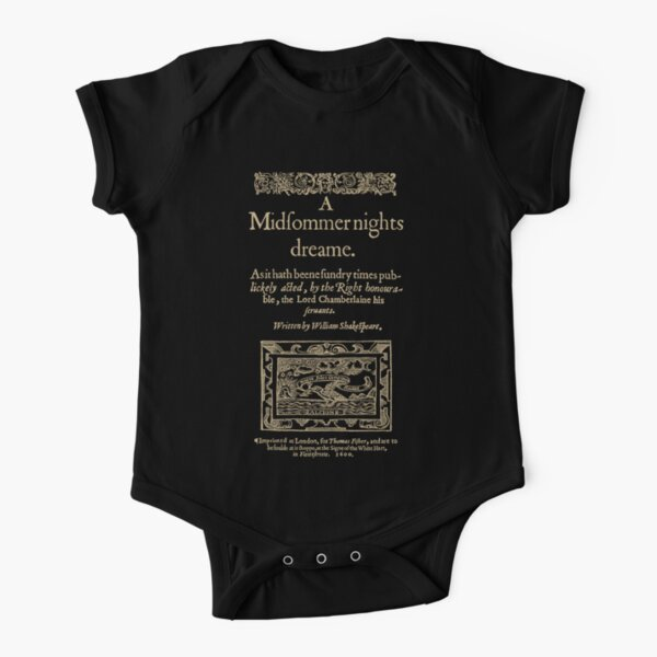 Shakespeare Body de manga corta para bebé