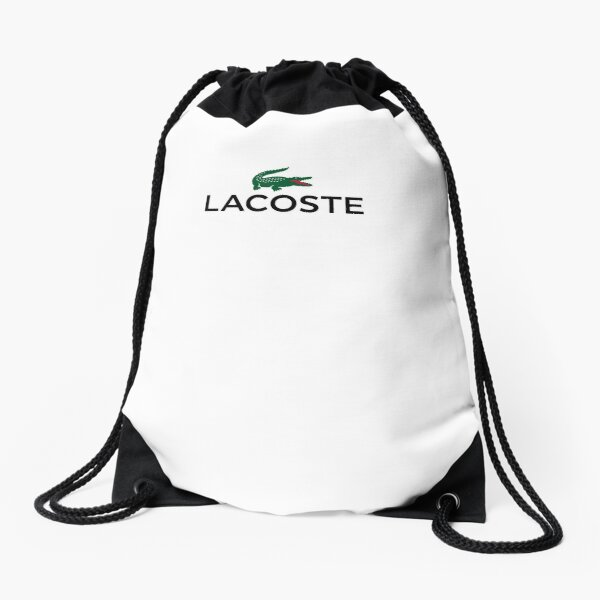 Best Clothing by La Coste White Tee Drawstring Bag