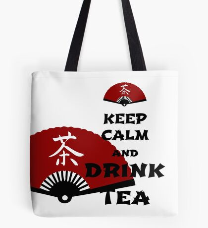 keep calm and drink tea - asia edition Tote Bag