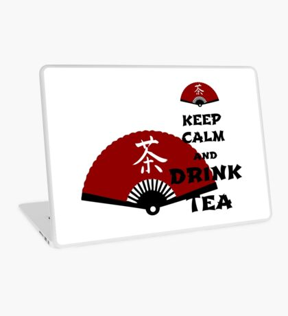 keep calm and drink tea - asia edition Laptop Skin
