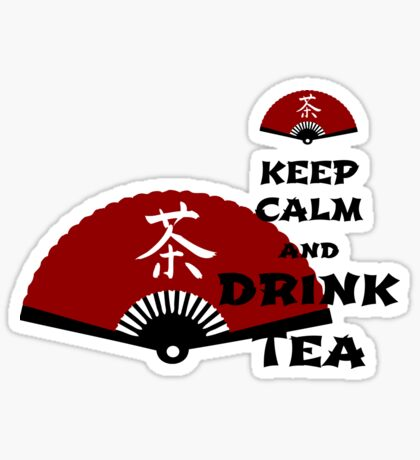 keep calm and drink tea - asia edition Sticker