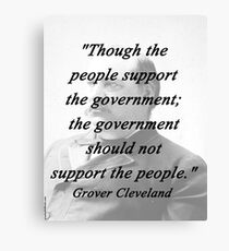 Support - Grover Cleveland Canvas Print