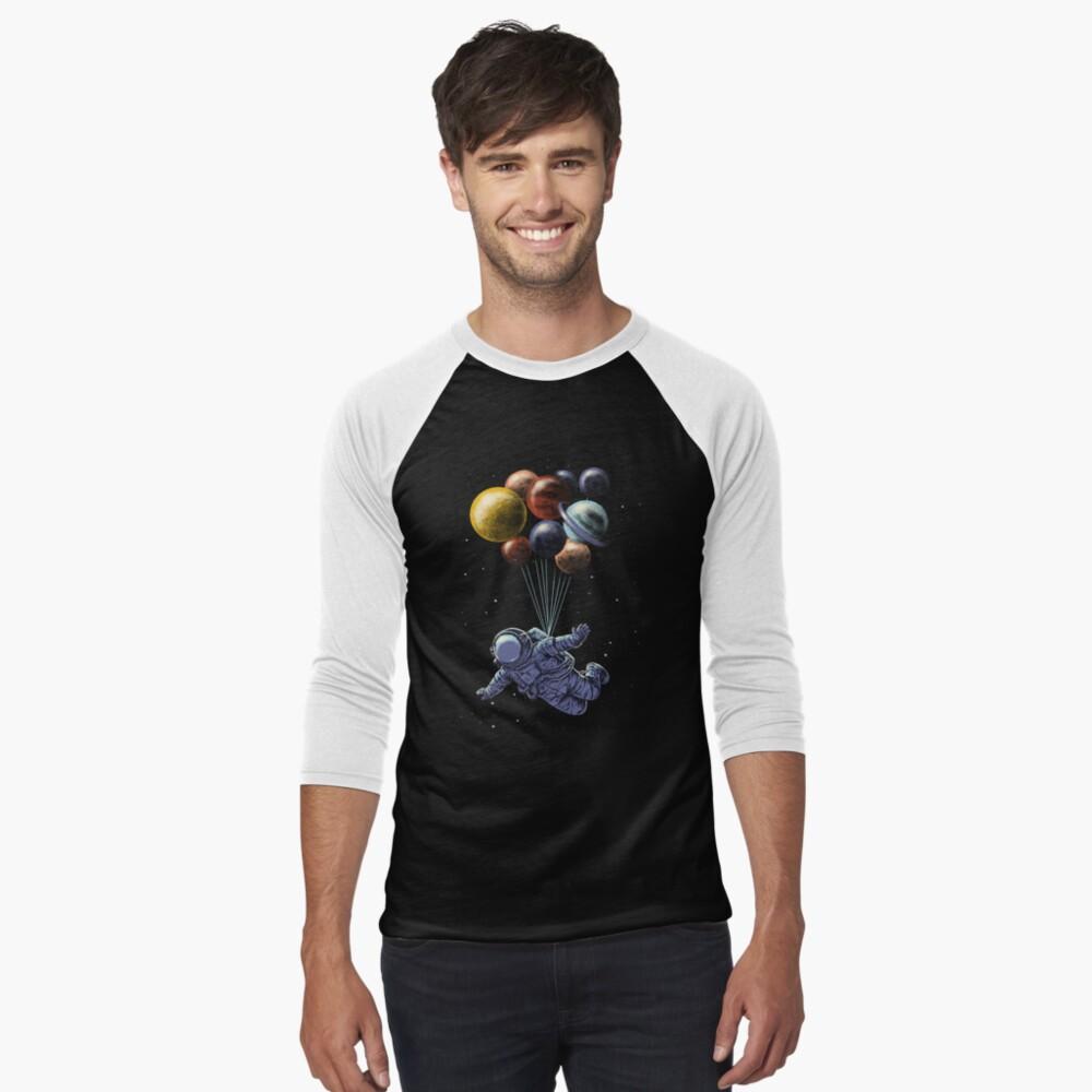 Space Travel Baseball ¾ Sleeve T-Shirt