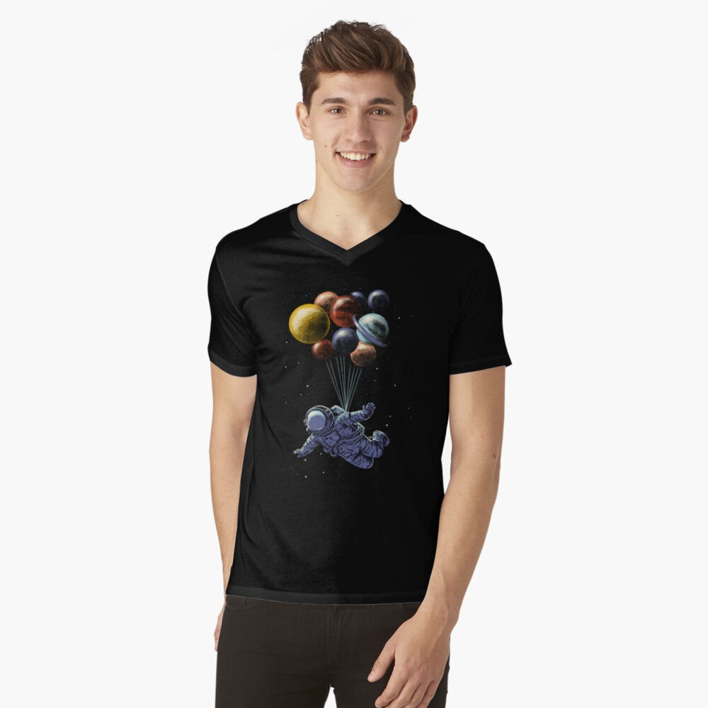 Space Travel V-Neck T-Shirt
