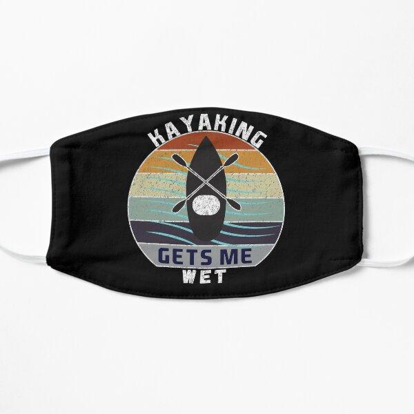 Kayaking Gets Me Wet, Gift Idea for Kayaking Lovers, Kayak Logo Design, Flat Mask