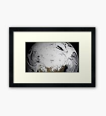 Cloud simulation of a single day centered over Canada.  Framed Print