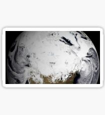 Cloud simulation of a single day centered over Canada.  Sticker