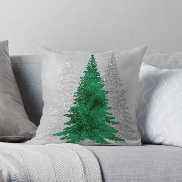 Christmas Trees 2 Throw Pillow