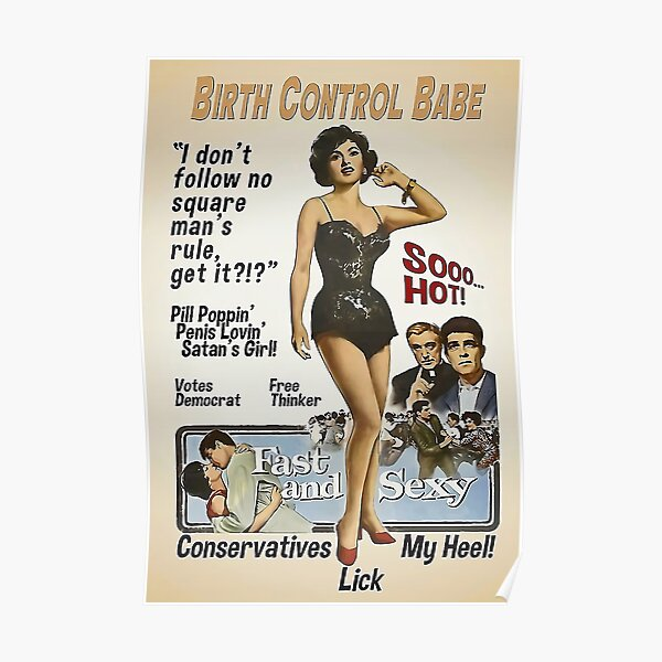 The Birth Control Babe Poster