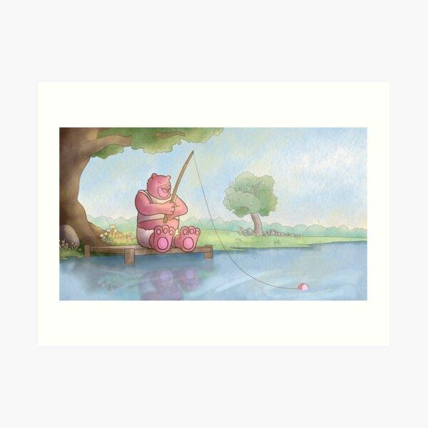 Fishing Bear Art Print