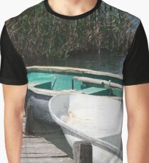 Reeds, Rowing Boats and Old Jetty at Dalyan Graphic T-Shirt