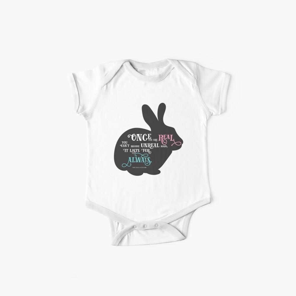 Velveteen Rabbit quote  Baby One-Piece