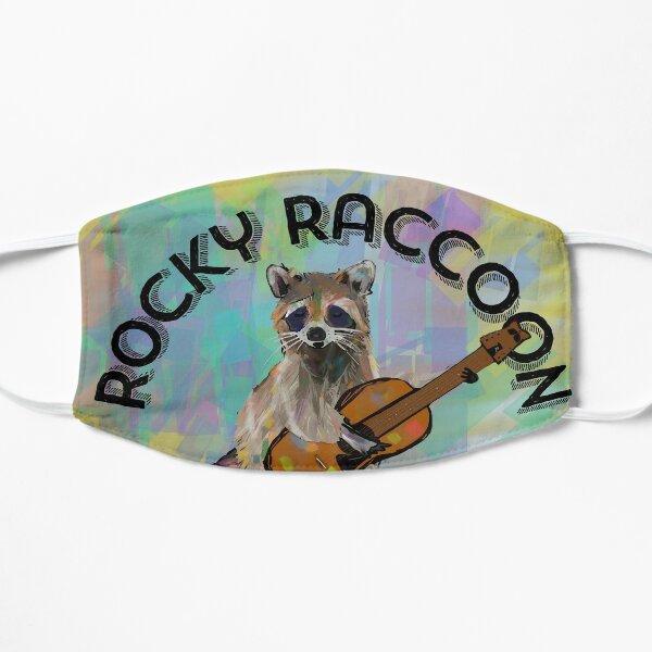 Rocky Raccoon Guitar playing Raccoon Beatles - text  Flat Mask