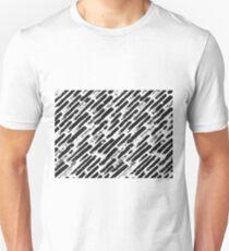 Grunge Brush Srokes Pattern Diagonal T-Shirt
