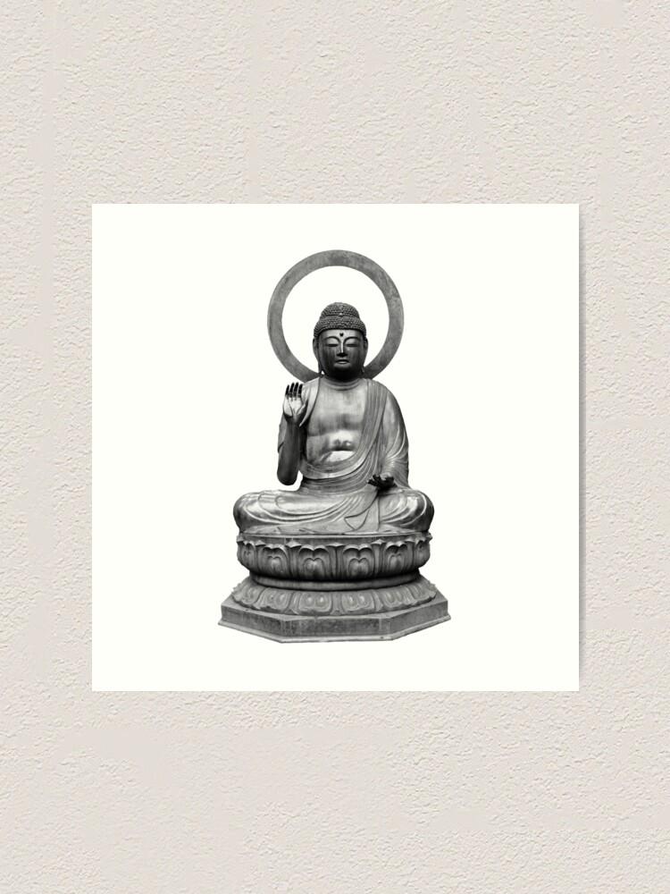 Alternate view of Budda statue Art Print