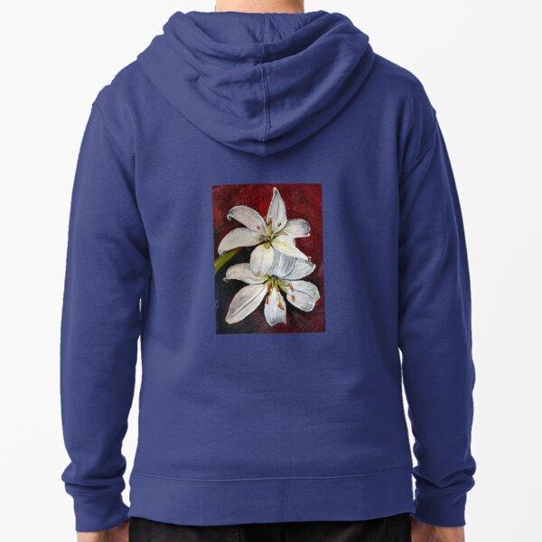 Sarah's Irises Zipped Hoodie