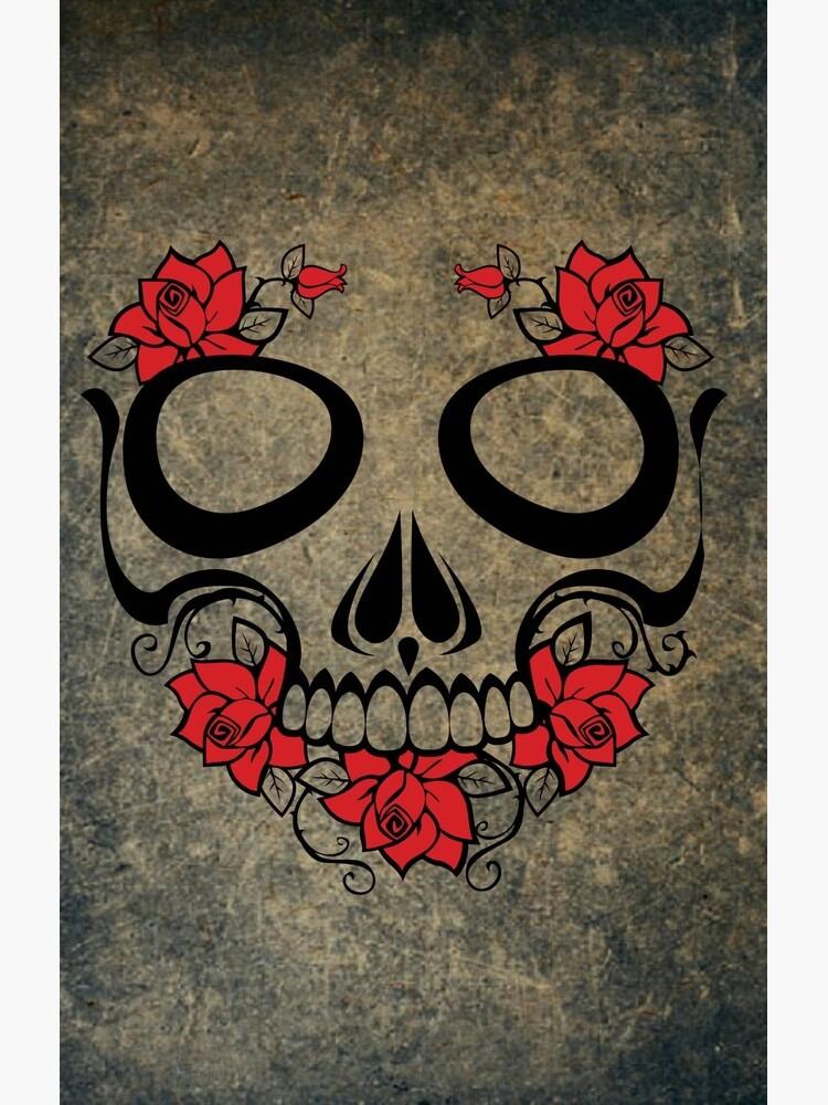 Vintage Day of the Dead Dia de Muertos Skull de pdgraphics