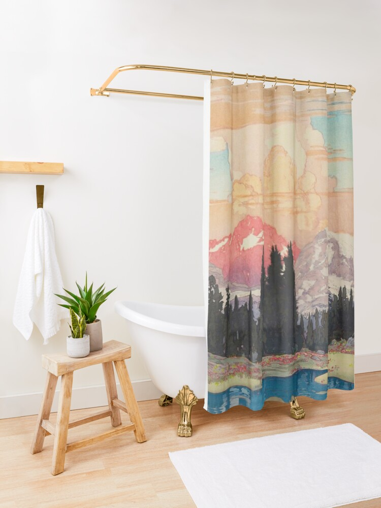 Alternate view of Storms over Keiisino Shower Curtain