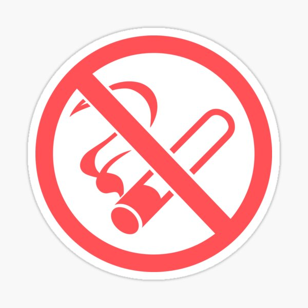 No Smoking sign for Vacation Rentals Sticker