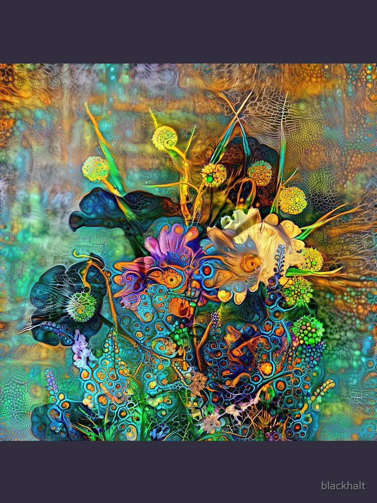 Abstract flowers by blackhalt