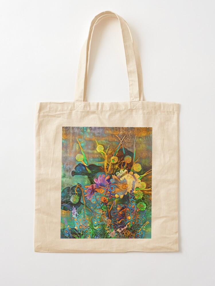 Alternate view of Abstract flowers Tote Bag