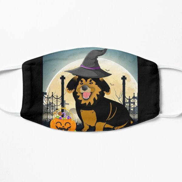 German shepherd in halloween Flat Mask