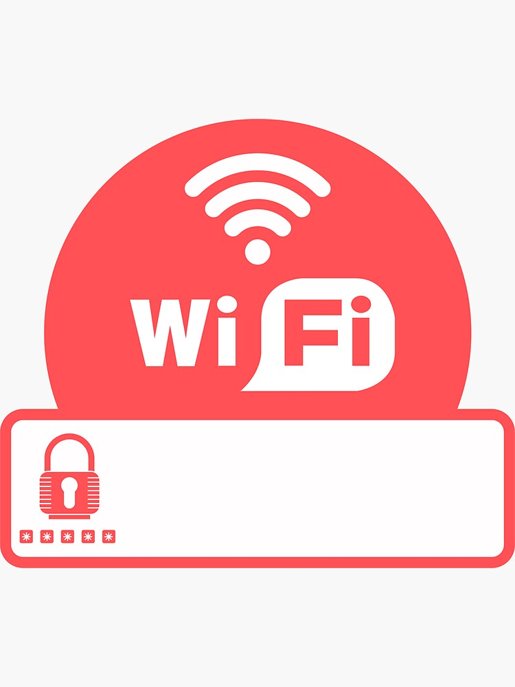 WiFi sign for Vacation Rentals by IronMark19