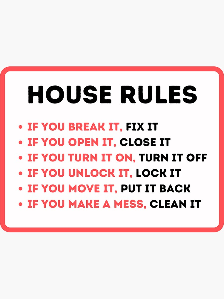 Funny House Rules for Vacation Rentals by IronMark19