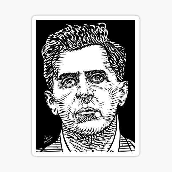 LUDWIG WITTGENSTEIN ink portrait Sticker