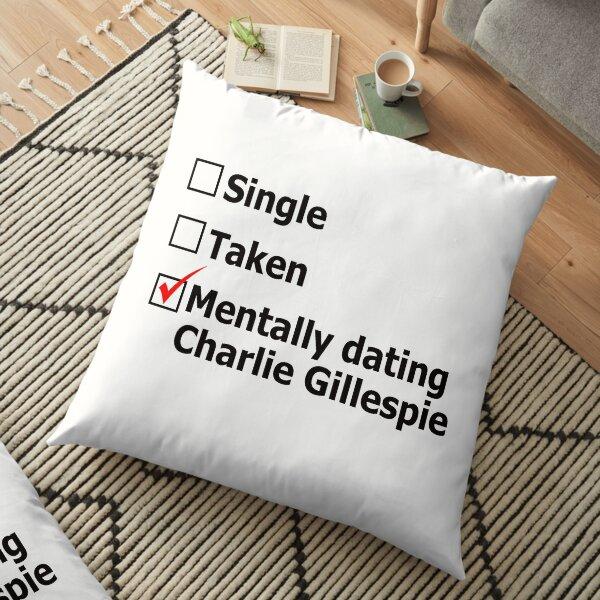 Mentally dating Charlie Gillespie Floor Pillow