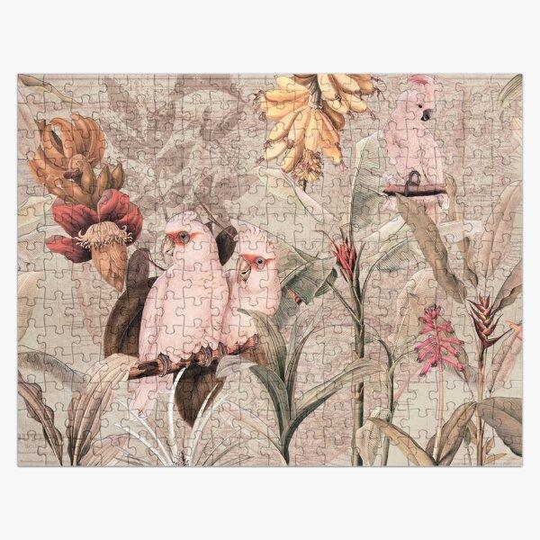 Vintage Botanical  Exotic Summer Birds Garden Jigsaw Puzzle