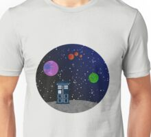The Blue Box in the Outer Space. Unisex T-Shirt