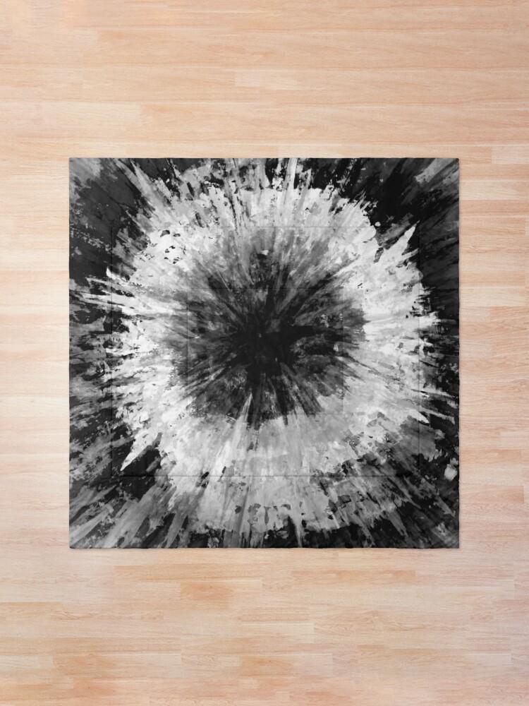 Alternate view of Black and White Tie Dye Painted Multi-Media Design Comforter
