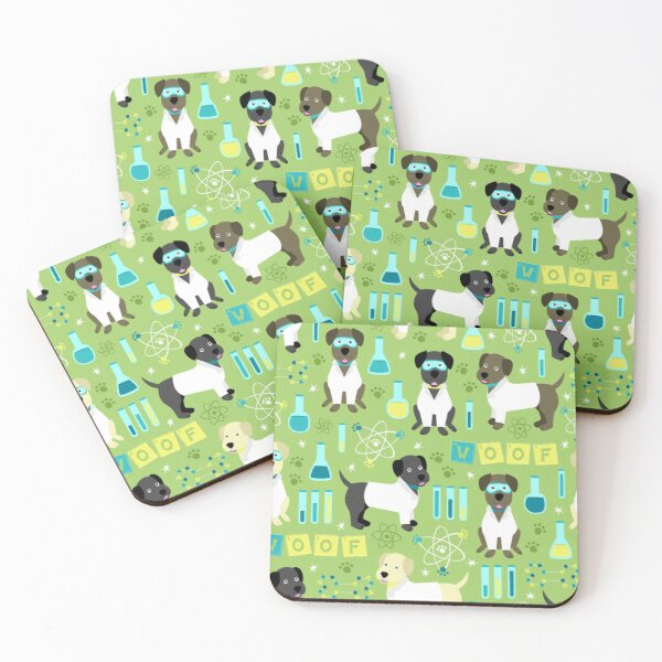 Lab Assistants Coasters (Set of 4)