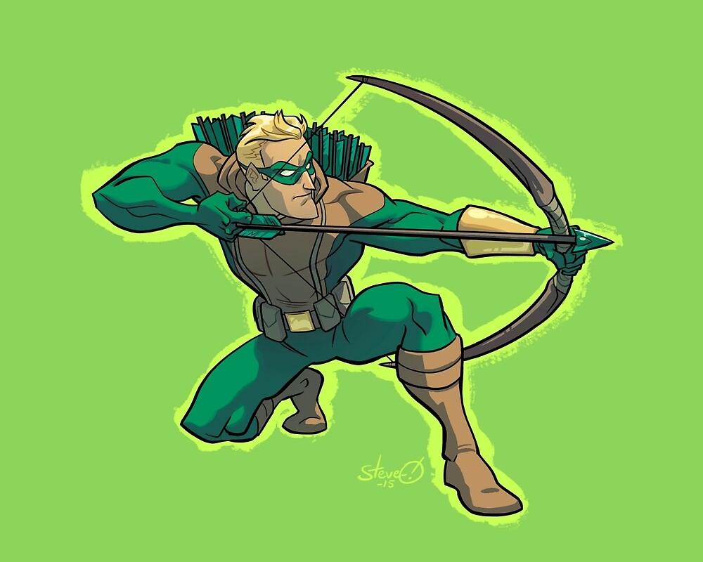 Green Arrow 1990s JLA by downersteve