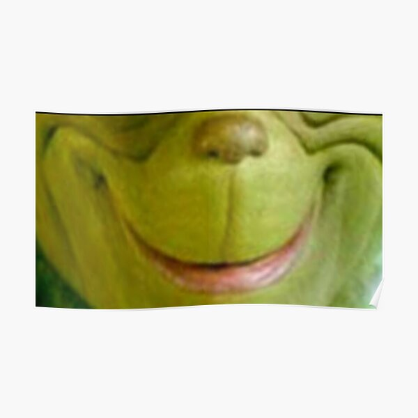 The Grinch smile and face Poster
