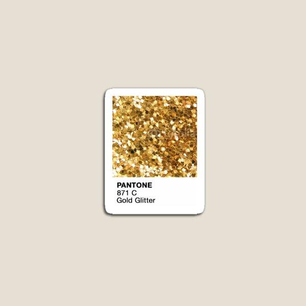 Pantone Gold Glitter Magnet