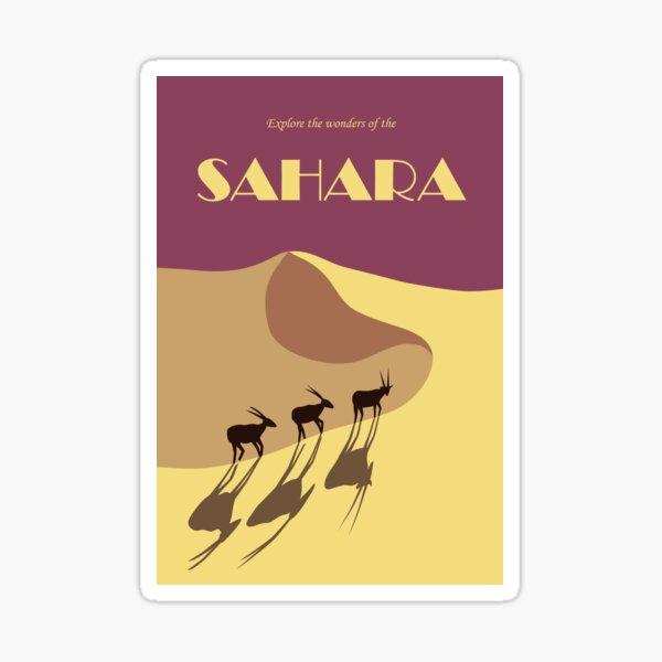 Sahara desert retro travel poster Sticker