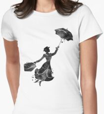Mary Poppins Womens Fitted T-Shirt