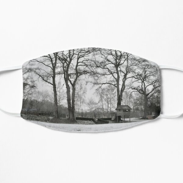 Snow And Trees Flat Mask