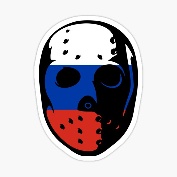 Friday the 13th Mask-Russia Sticker
