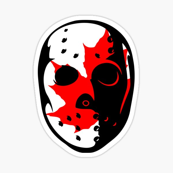 Friday the 13th Goalie Mask-Canada Sticker