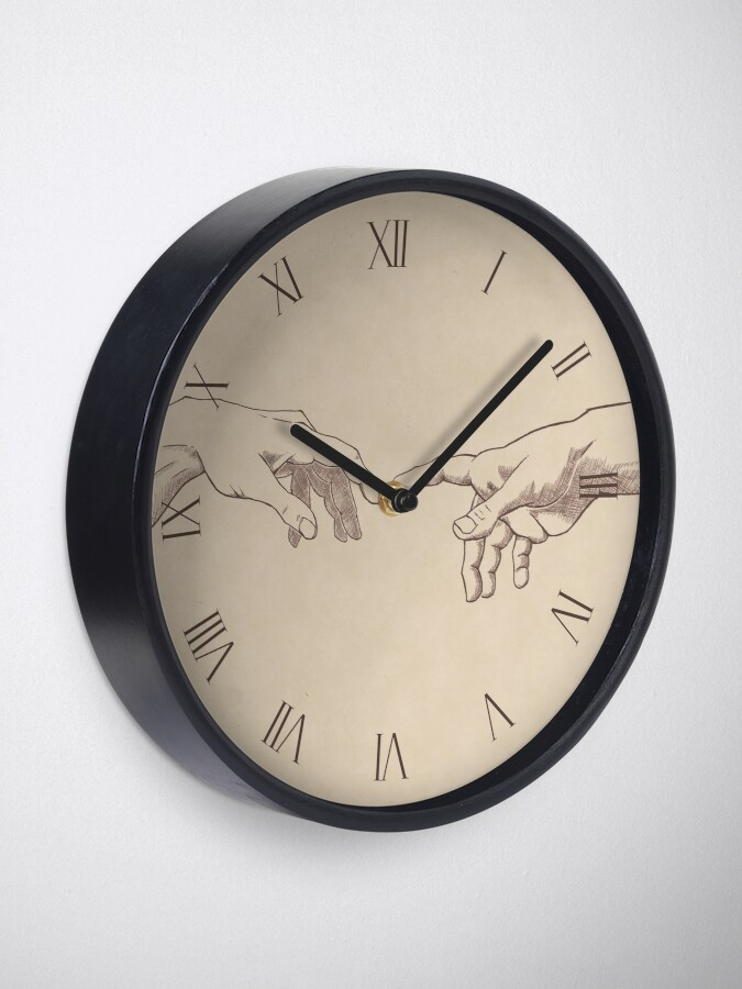Alternate view of Dark Academia: Creation of Adam Sketch Clock