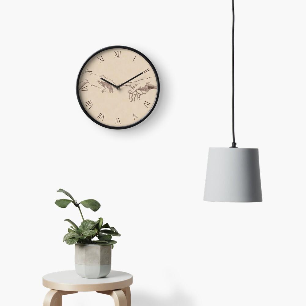 Dark Academia: Creation of Adam Sketch Clock