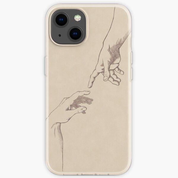 Dark Academia: Creation of Adam Sketch iPhone Soft Case